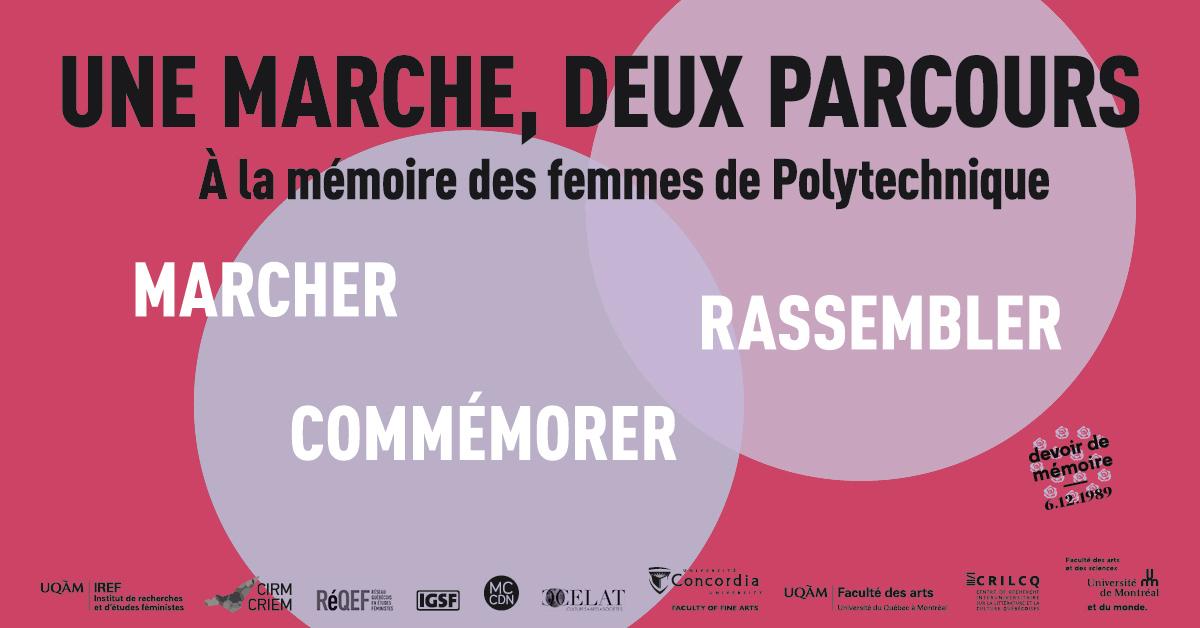 Une marche, deux parcours : À la mémoire des femmes de Polytechnique