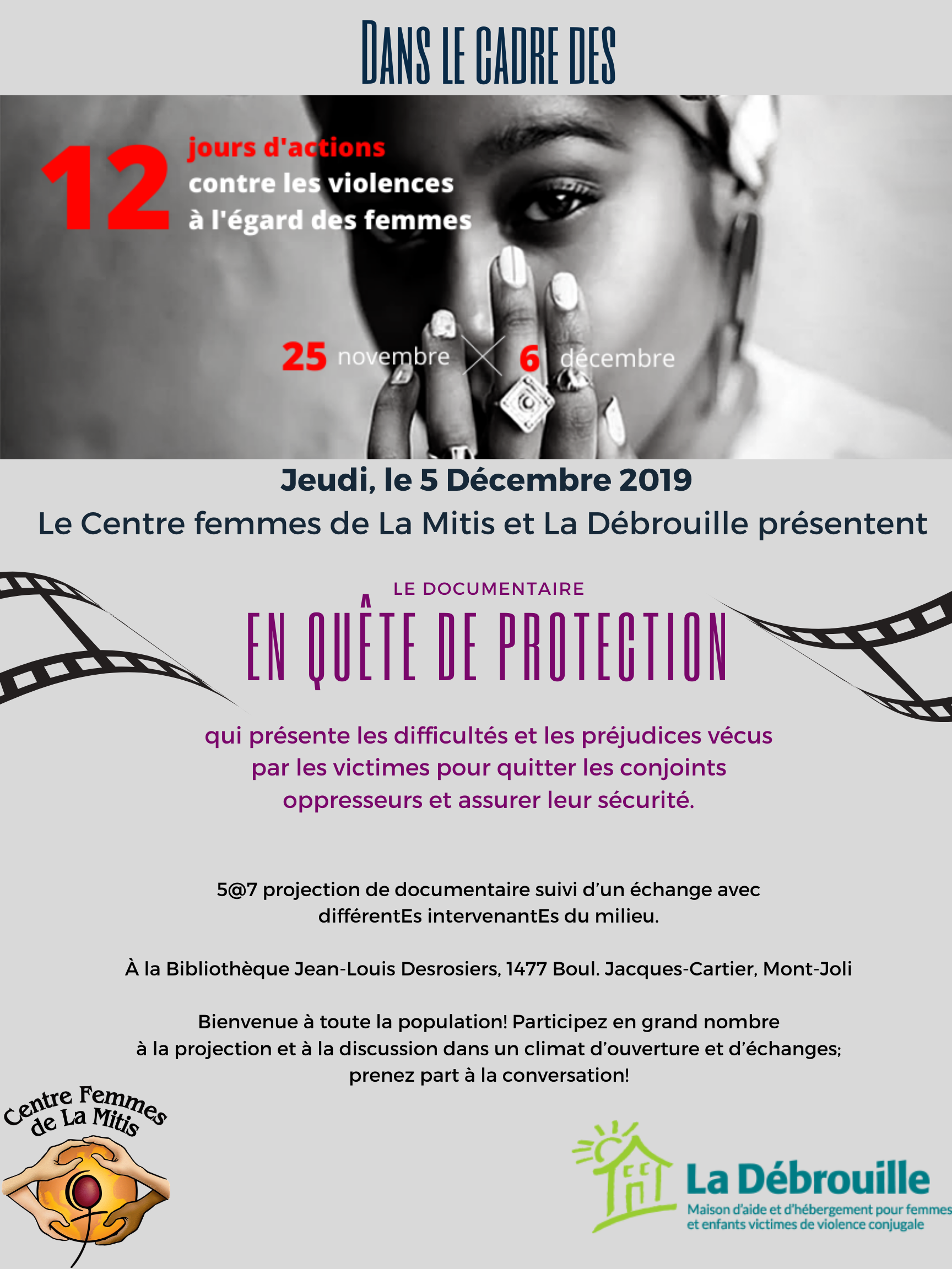 Projection documentaire en quête de protection