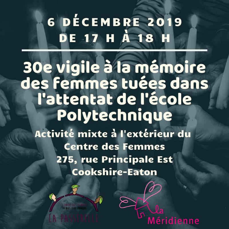 30e vigile à la mémoire des femmes tuées dans l'attentat de l'école Polytechnique