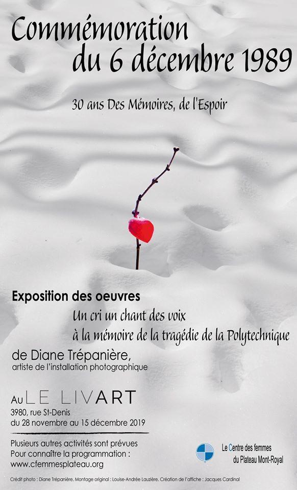 Commémoration du 6-décembre-1989 30 ans Des mémoires, de L'Espoir
