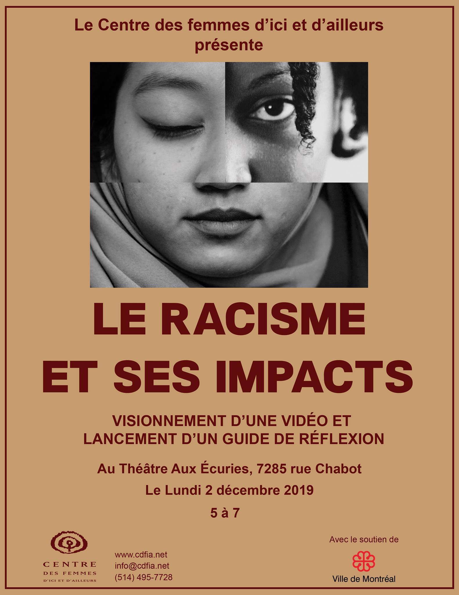 Le racisme et ses impacts : Soirée de lancement
