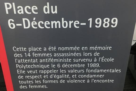 Inauguration de la plaque - Place du 6-Décembre-1989