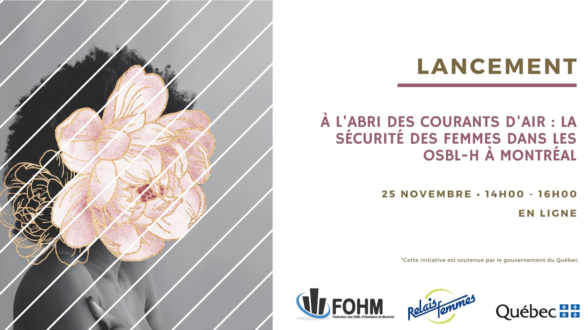 Lancement : À l'abri des courants d'airs, la sécurité des femmes dans les OSBL d'habitation pour personnes seules à Montréal