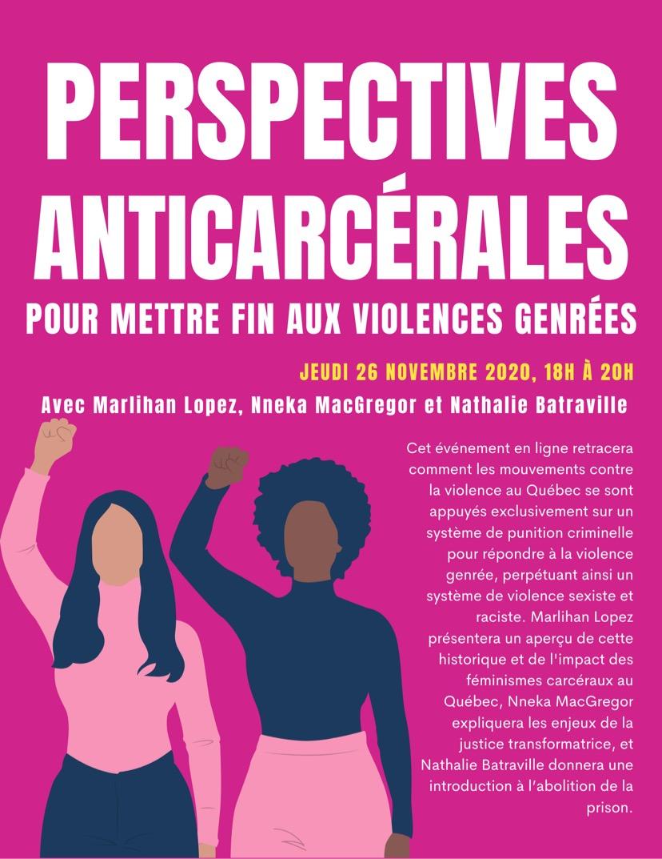 Perspectives anti-carcérales pour mettre fin aux violences genrées