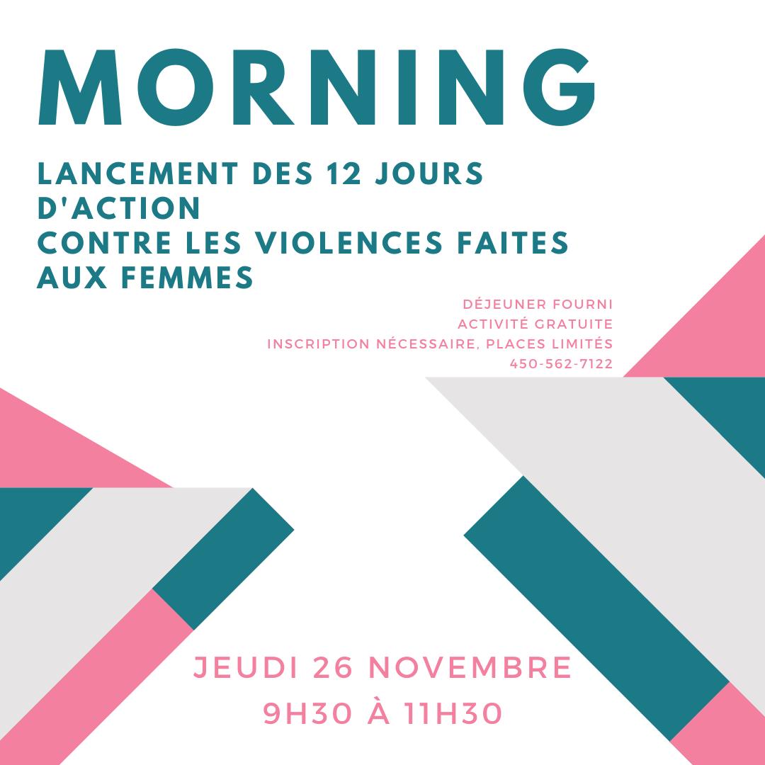 Morning lancement des 12 jours d'action